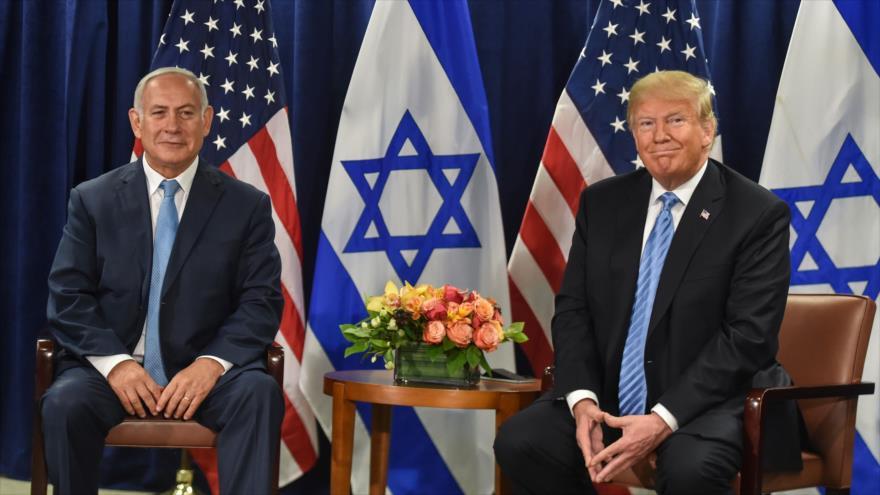 El presidente de EE.UU., Donald Trump (dcha.), y el primer ministro israelí, Benjamín Netanyahu, en Nueva York, 26 de septiembre de 2018. (Foto: AFP)