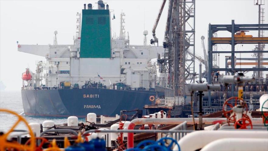 Instalaciones petroleras iraníes a las orillas del Golfo Pérsico.