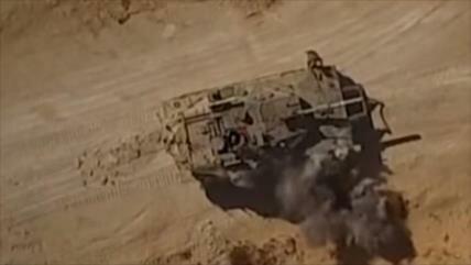 Vídeo: drones de Yihad Islámica Palestina atacan tanque israelí