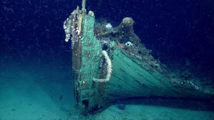 Hallan misterioso barco naufragado en fondo de golfo de México