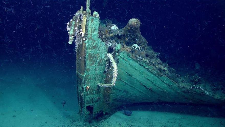 Ruinas de un barco encontrado en el Golfo de México.