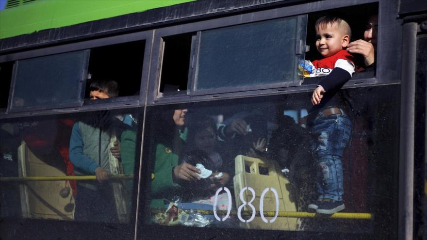 Refugiados sirios vuelven a casa desde El Líbano, 24 de enero de 2019. (Foto: AP)