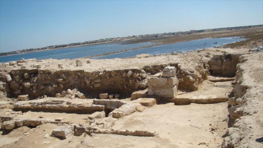 La basílica ubicada en el antiguo puerto de Marea, en Egipto.