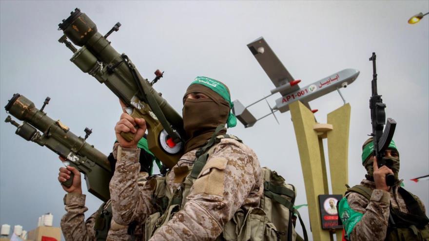 Fuerzas de la Resistencia palestina durante un desfile.