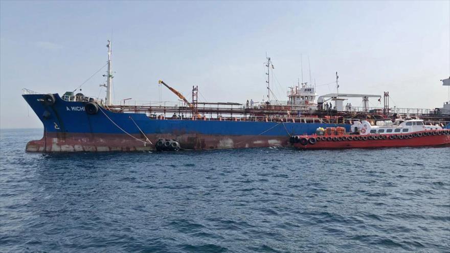 Una visión general del puerto emiratí Al-Fuyaira.