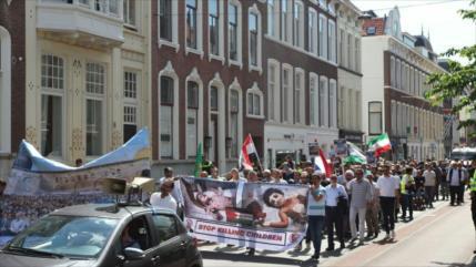 Fotos: Conmemoran Día Mundial de Al-Quds frente a sede de La Haya