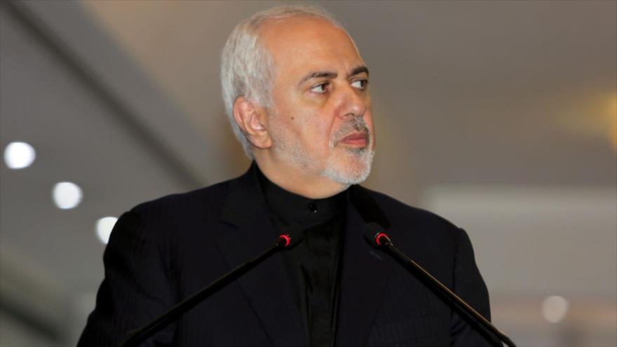 El canciller iraní, Mohamad Yavad Zarif, durante una conferencia de prensa en la ciudad de Bagdad, capital de Irak, 26 de mayo de 2019. (Foto: AFP)