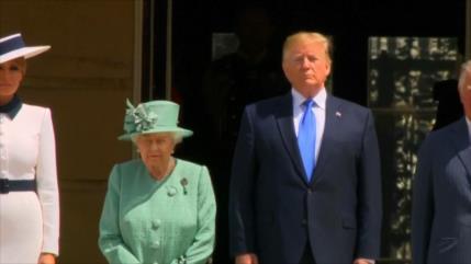 Trump inicia su visita de Estado en el Reino Unido