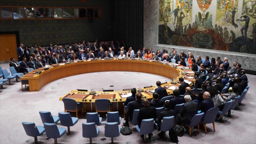 Una sesión del Consejo de Seguridad delas Naciones Unidas (CSNU), 10 de abril de 2019. (Foto: AFP)