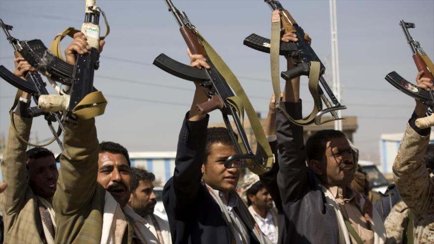 Las fuerzas del movimiento popular Ansarolá de Yemen, desplegadas en la ciudad de Saná, la capital yemení.