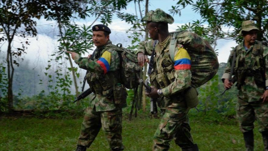 Miembros de la exguerrilla de las Fuerzas Armadas Revolucionarias de Colombia (FARC).