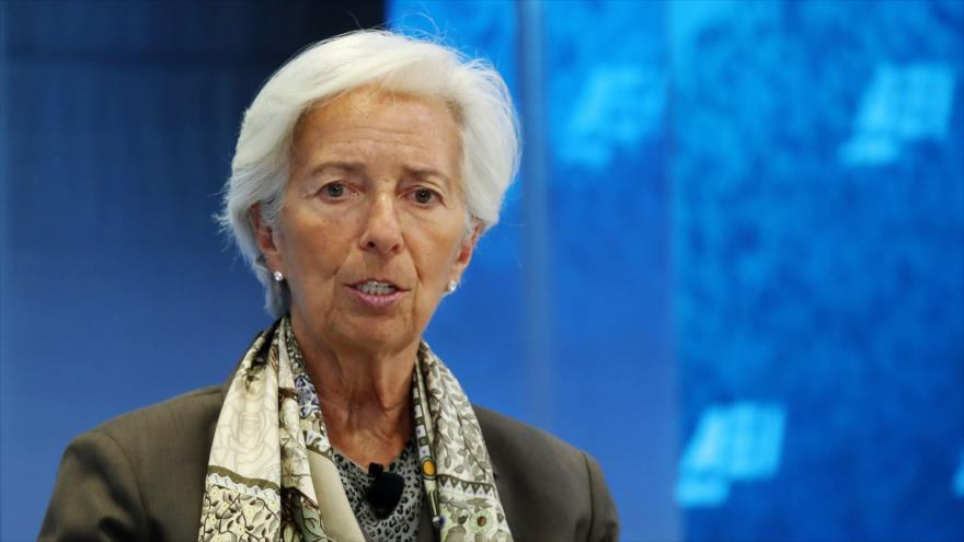 Directora del Fondo Monetario Internacional (FMI), Christine Lagarde, habla en American Enterprise Institute en Washington, 5 de junio de 2019. (Foto: AFP)