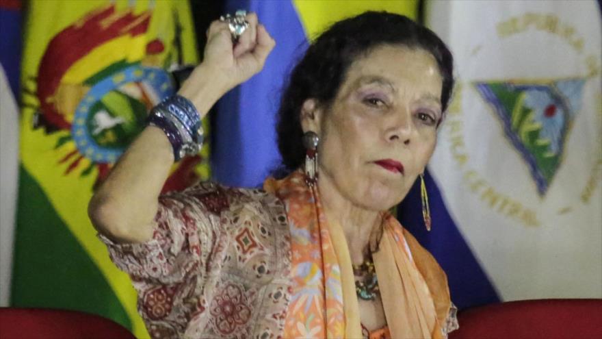 La vicepresidenta nicaragüense, Rosario Murillo, participa en un acto de Gobierno, Managua, noviembre de 2018. (Foto: AFP)