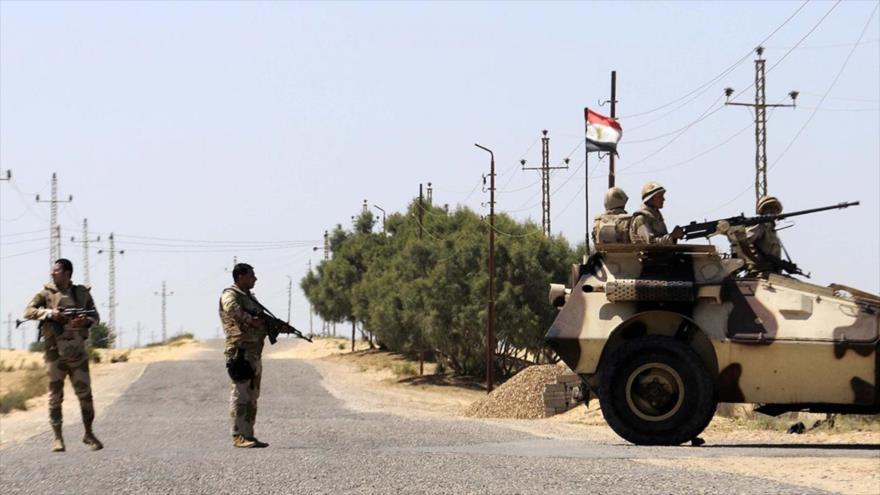 Las fuerzas del Ejército de Egipto desplegadas en la península del Sinaí.