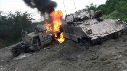 Vídeo: Fuerzas yemeníes atacan con misiles a militares saudíes