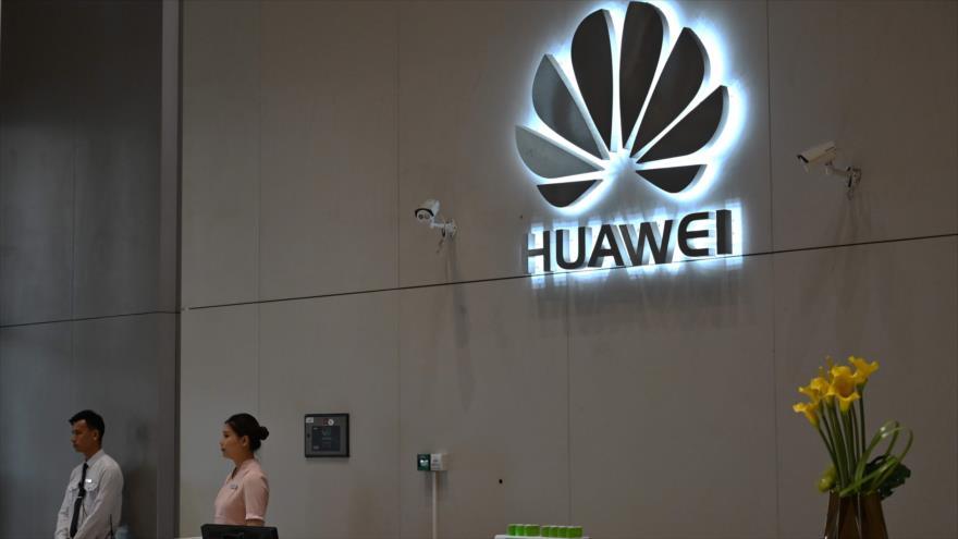 Un logotipo del gigante chino de telecomunicaciones Huawei en la sede de la firma, provincia china de Guangdong (sur), 29 de mayo de 2019. (Foto: AFP)