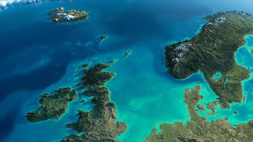Una vista general del mar del Norte, donde los aqueólogos han descubierto restos de una posible civilización de hace 10 000 años.