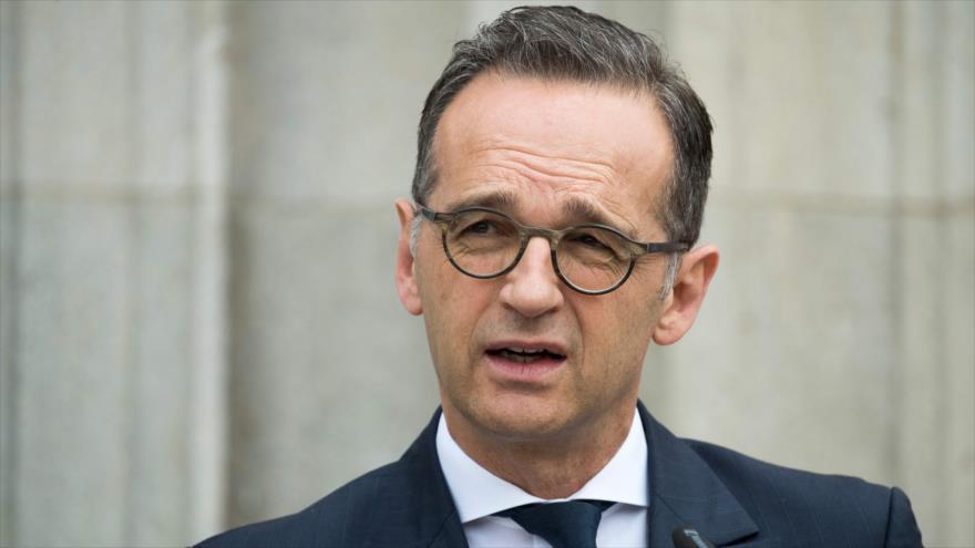 El ministro de Exteriores de Alemania, Heiko Maas, en una conferencia de prensa en Berlín, 31 de mayo de 2019. (Foto: AFP)