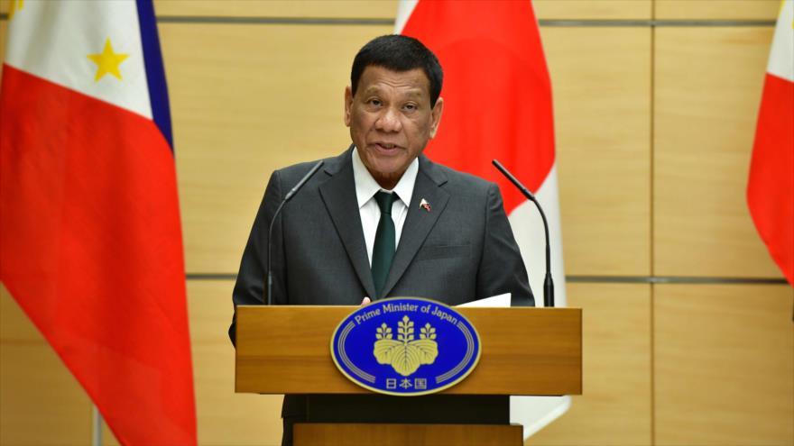 El presidente filipino, Rodrigo Duterte, ofrece una rueda de prensa en Tokio, capital de Japón, 31 de mayo de 2019. (Foto: AFP)