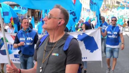 Trabajadores italianos piden una renovación de sus contratos