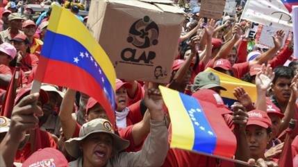 Pueblo venezolano se alza contra sanciones de EEUU