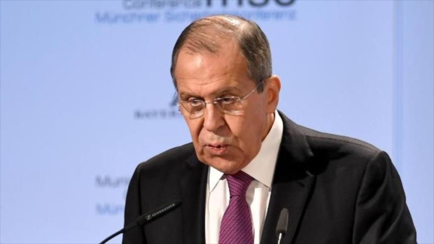 El ministro de Relaciones Exteriores ruso, Serguéi Lavrov, en una conferencia de prensa en Sochi, Rusia, 13 de mayo de 2019. (Foto: Reuters)