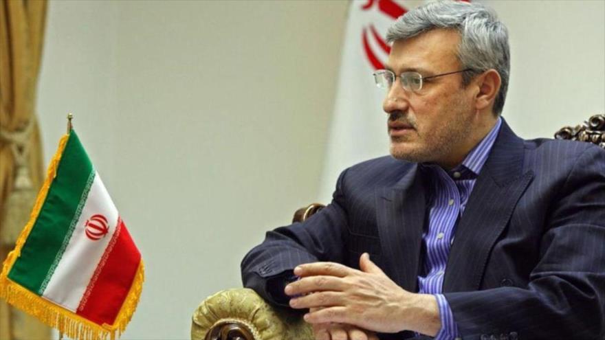 El embajador de Irán en Londres (capital del Reino Unido), Hamid Baidineyad.