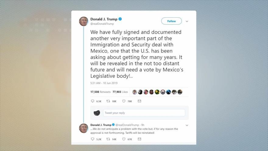 Lo que comprometió México para eludir los aranceles de Trump