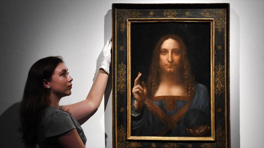 'Salvator Mundi', una de las pinturas maestras de Leonardo da Vinci, es la obra de mayor precio jamás subastada.