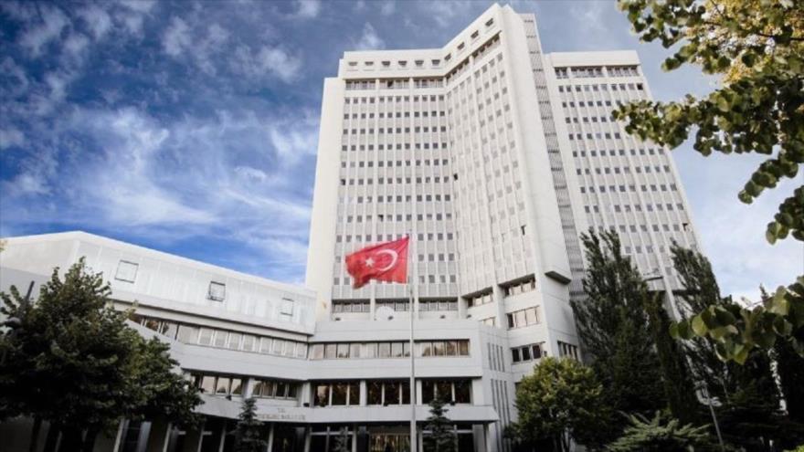 La sede del Ministerio de Exteriores de Turquía en Ankara, la capital.