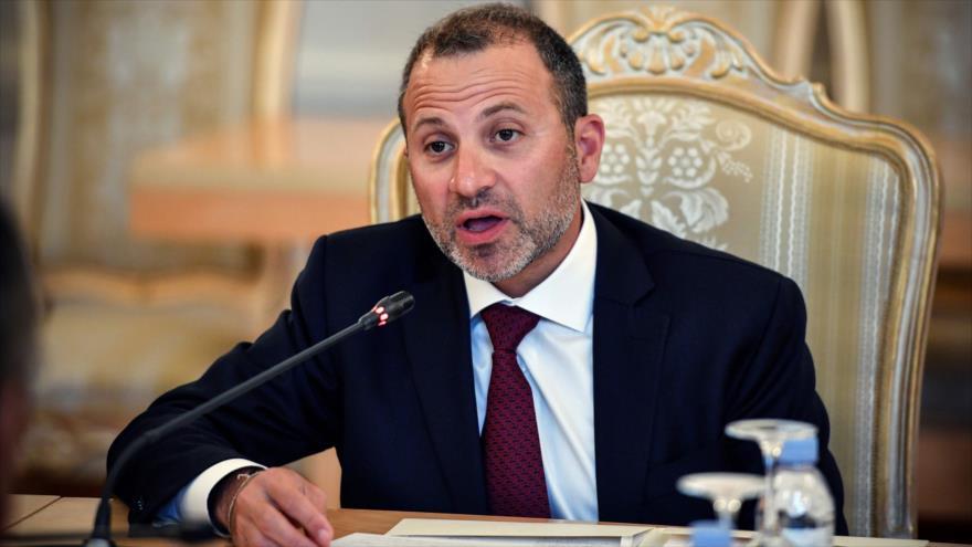 El canciller libanés, Gebran Bassil, en una reunión en Moscú, capital de Rusia, 20 de agosto de 2019. (Foto: AFP)