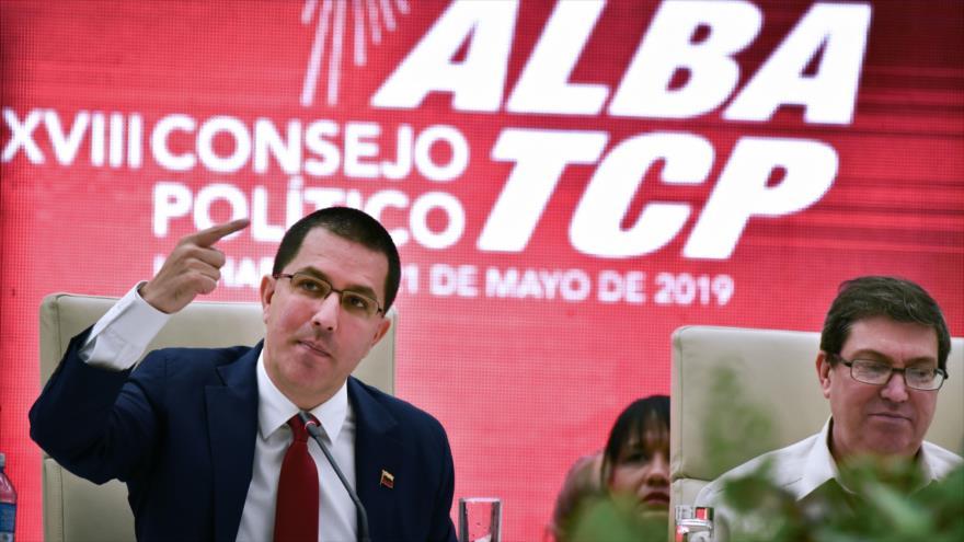 El canciller venezolano, Jorge Arreaza, en una reunión en La Habana, 21 de mayo de 2019. (Foto: AFP)