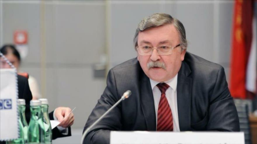 El embajador de Rusia ante las organizaciones internacionales radicadas en Viena (la capital de Austria), Mijail Ulianov.
