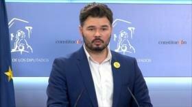 Rufián, dispuesto a no bloquear investidura de Sánchez en España