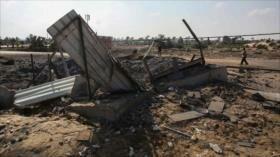 Aviones de guerra israelíes bombardean la asediada Franja de Gaza