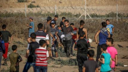 Represión israelí deja 49 palestinos heridos en la Franja de Gaza