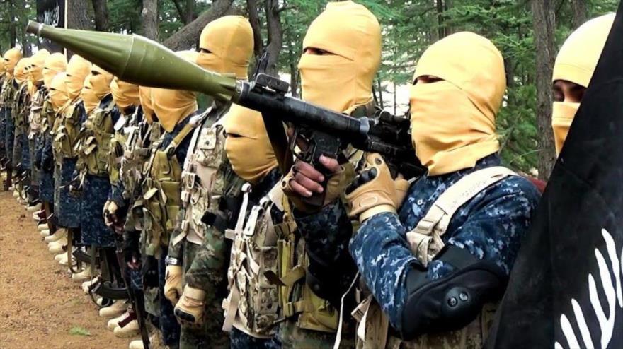 Integrantes del grupo terrorista EIIL (Daesh, en árabe) en Afganistán.