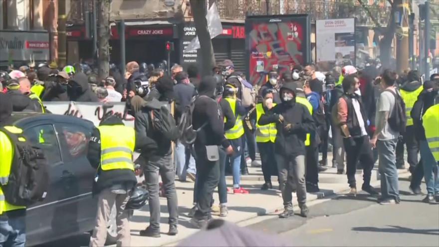 """""""Chalecos amarillos"""" suman ya 31 semanas consecutivas de protesta"""