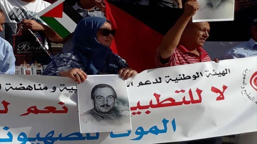 Tunecinos protestan contra la normalización de relaciones con Israel