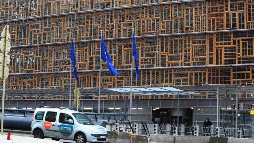Edificio Europa, el centro de operaciones del Consejo Europeo, en Bruselas.