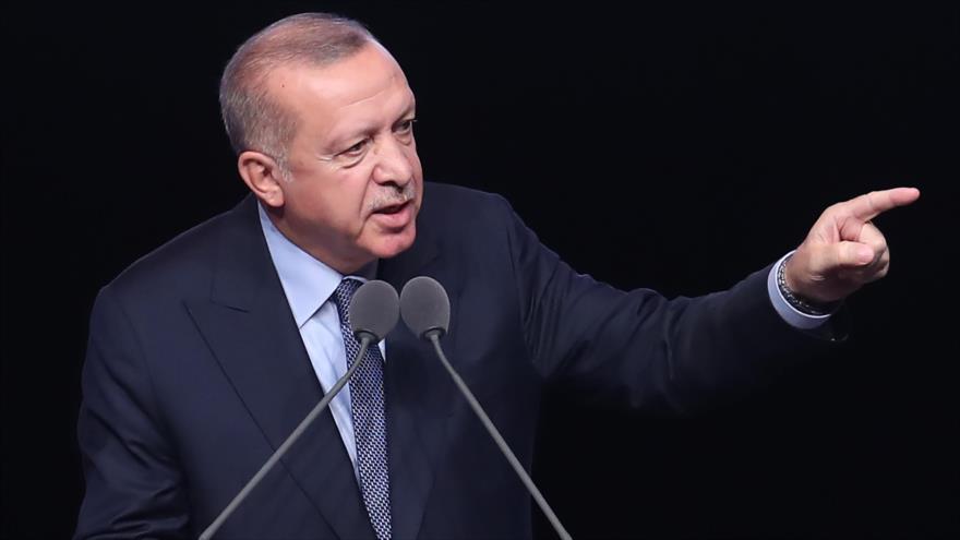 El presidente de Turquía, Recep Tayyip Erdogan, ofrece un discurso en Ankara, capital, 23 de mayo de 2019. (Foto: AFP)