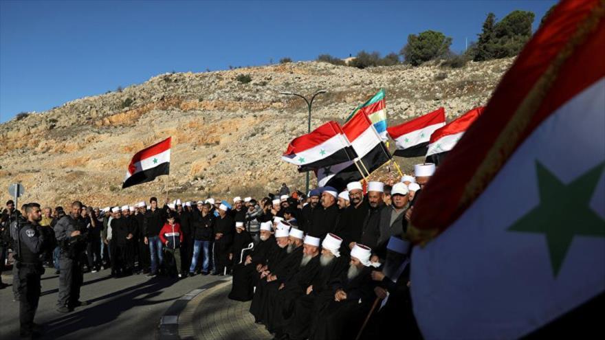 Residentes del Golán ocupado protestan contra 'colonia Trump' | HISPANTV