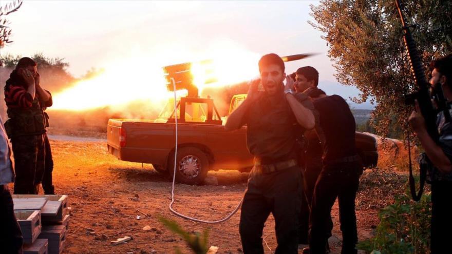 Terroristas bombardean zonas residenciales en Alepo, en el norte de Siria.