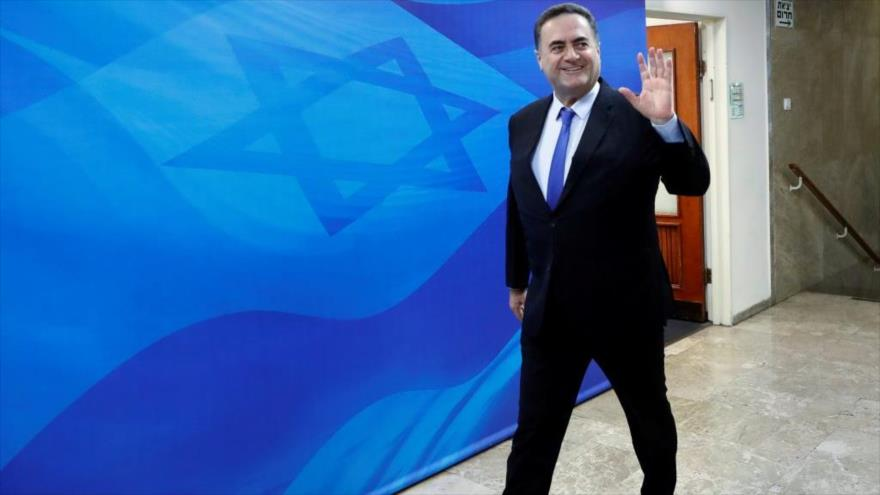 El ministro de exteriores del régimen de Israel, Yisrael Katz.