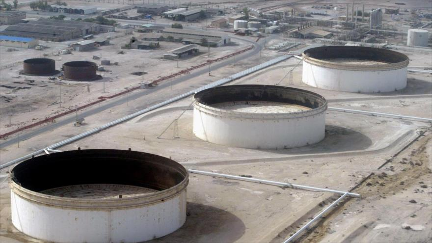 La refinería iraní de Lavan, en una isla homónima en el Golfo Pérsico. (Foto: AFP)