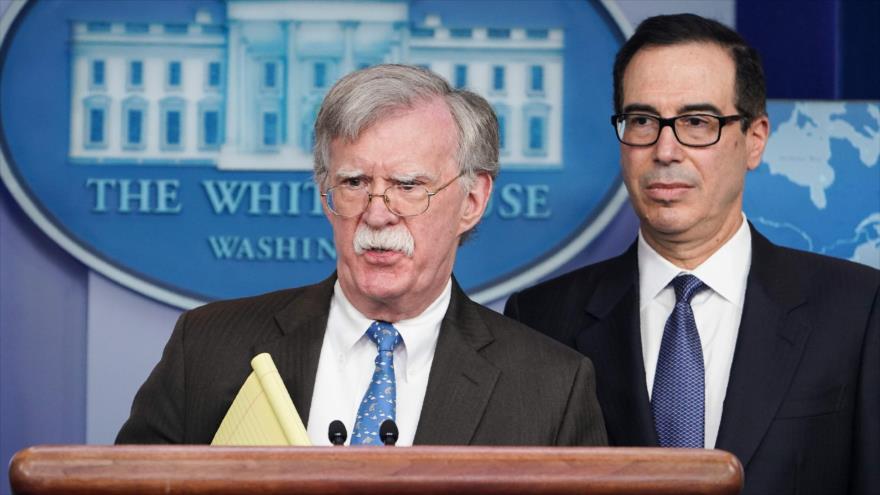 El asesor de Seguridad Nacional de EE.UU., John Bolton, habla durante una conferencia de prensa en la Casa Blanca, 28 de enero de 2019. (Foto: AFP)