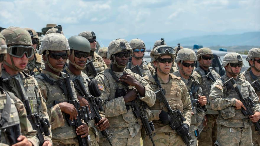 Tropas estadounidenses en el ejercicio militar 'Decisive Strike', en la base militar de Krivolak, en Macedonia, 17 de junio de 2019. (Foto: AFP)