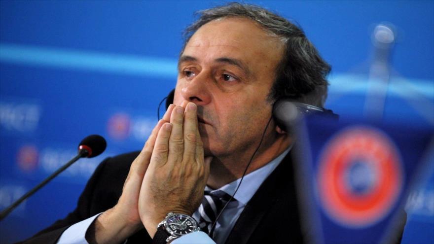 El francés Michel Platini, expresidente de la Unión de Federaciones de Fútbol Europeas (UEFA, por sus siglas en inglés).