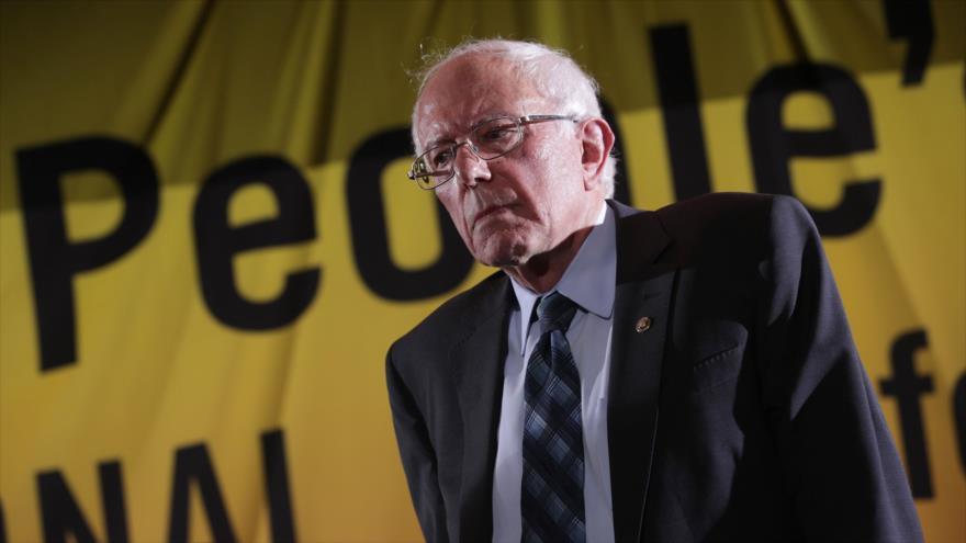 El senador estadounidense Bernie Sanders, en un acto en Washington, 17 de junio de 2019. (Foto: AFP)