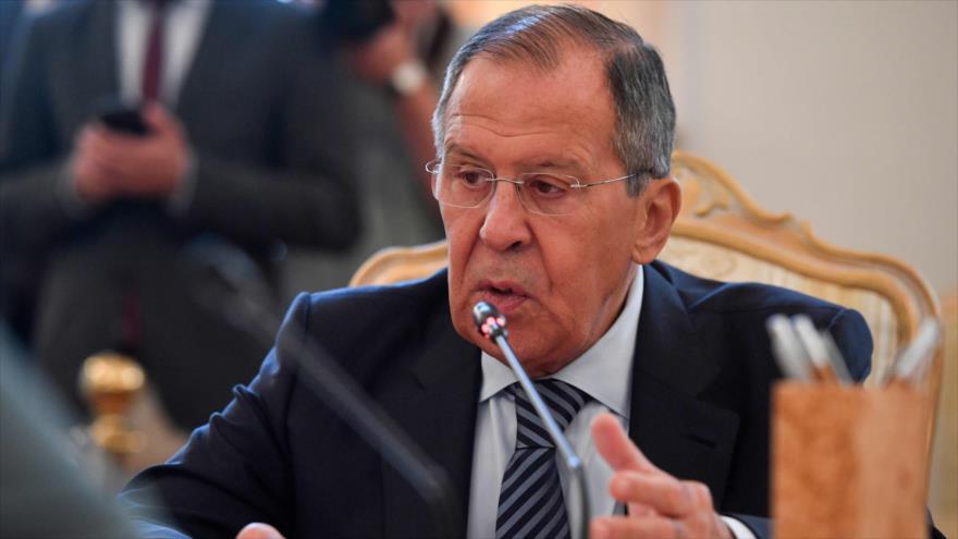 El canciller de Rusia, Serguéi Lavrov, en una reunión en Moscú, la capital, 17 de junio de 2019. (Foto: AFP)
